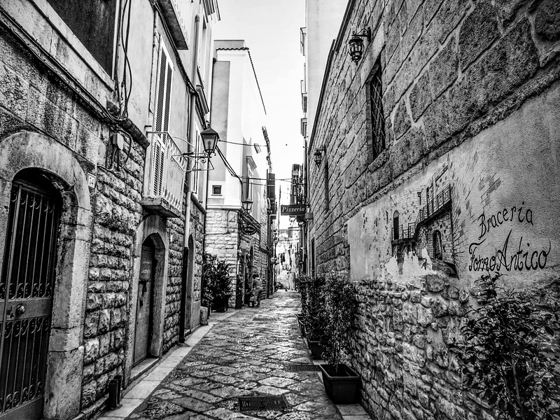 Walking in Trani