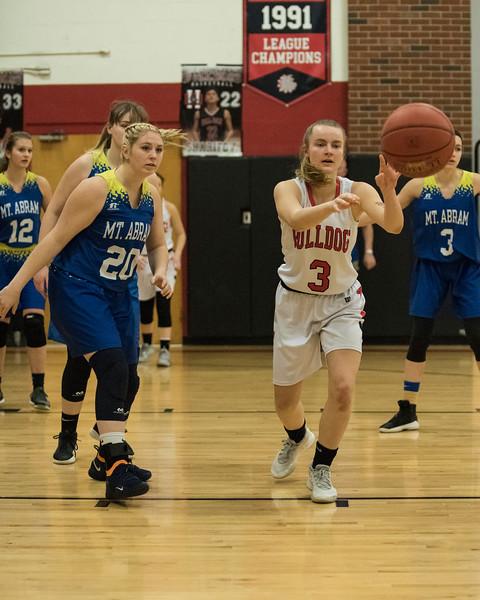 2020 Varsity Girls Basketball:  Hall-Dale vs Mt Abram