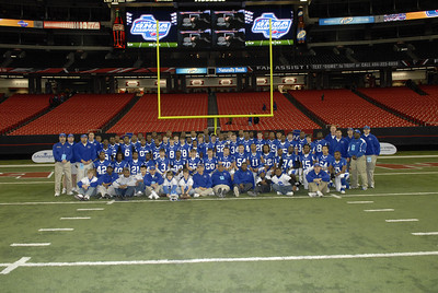 State of Georgia Class A Football playoff at the Dome in Atlanta, GA between Wilcox County High School and Savannah Christian Academy.