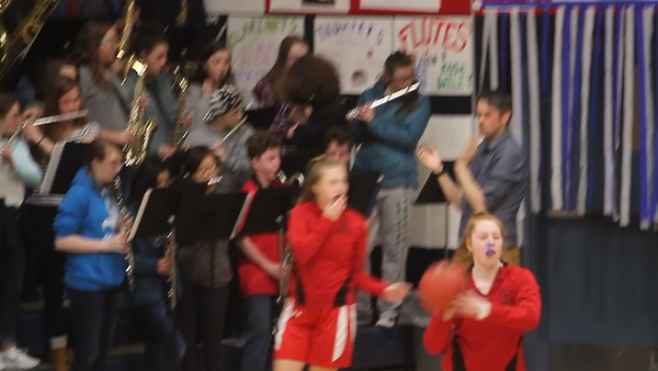 2018-02-23 PRHS Senior Pep Band and Womans BBall