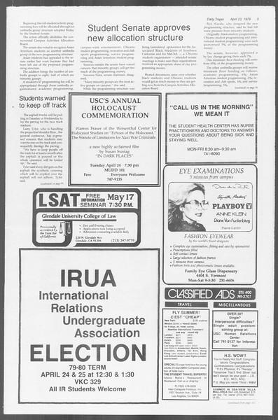 Daily Trojan, Vol. 76, No. 44, April 23, 1979