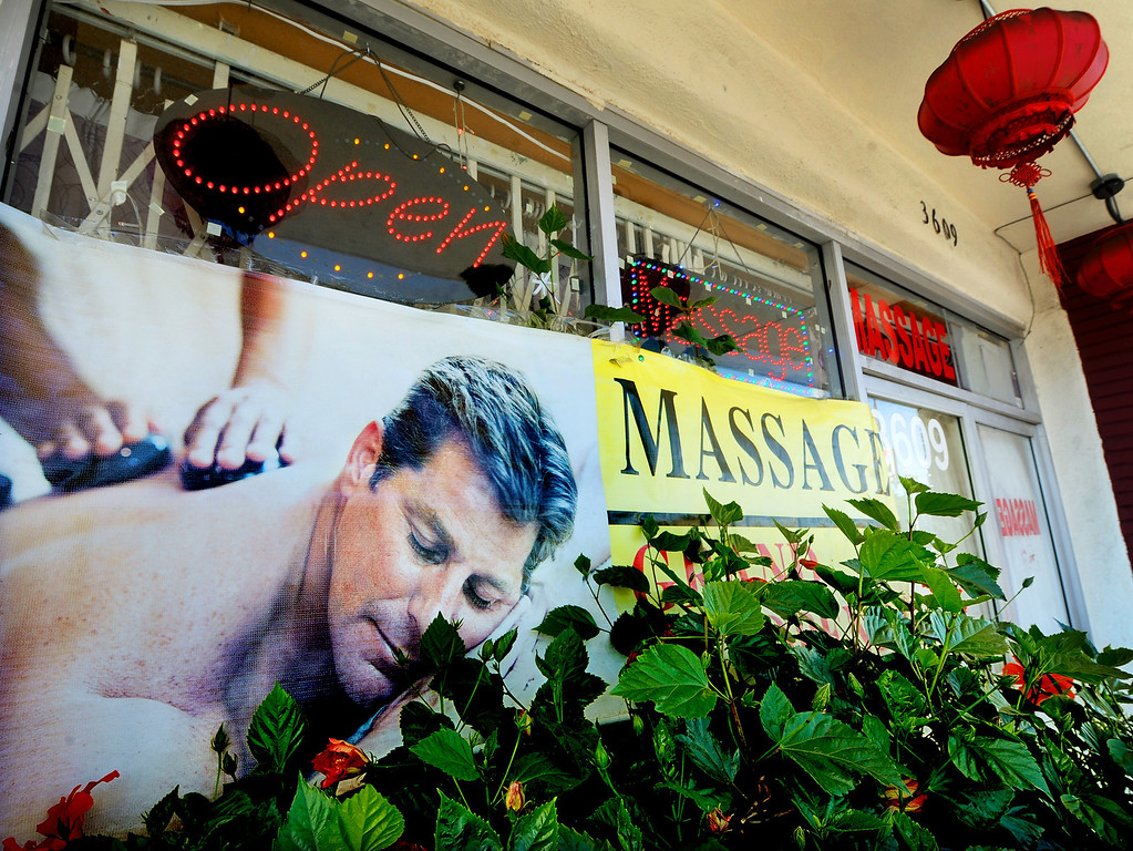 . Holiday Massage located at 3609 East Colorado Boulevard in Pasadena. (Photo by Walt Mancini/Pasadena Star-News)