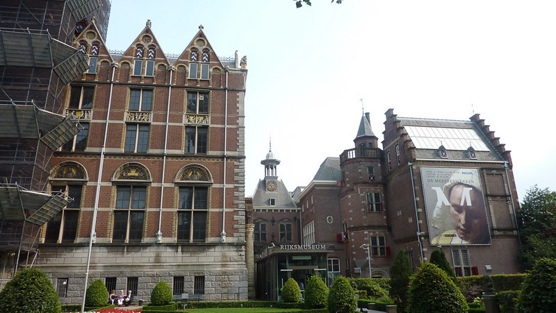 We spent one day at the the Rijksmuseum, which houses much of the fine art in Amsterdam. Most of the museum was closed for renovation but they had a wing open with a show on 17th century painters (Rembrandt, Vermeer, ???)
