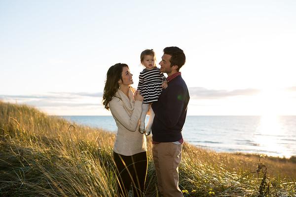 Norton Shores Beach Fall Family Portraits Manning