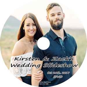 DVD Label - Kirsten and Zack Wedding Video