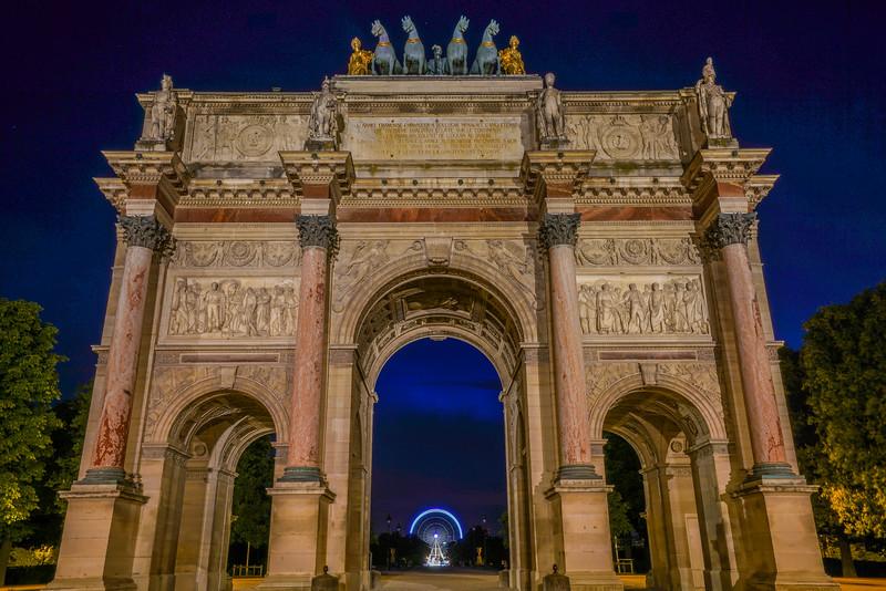 Ferris wheel in the arch