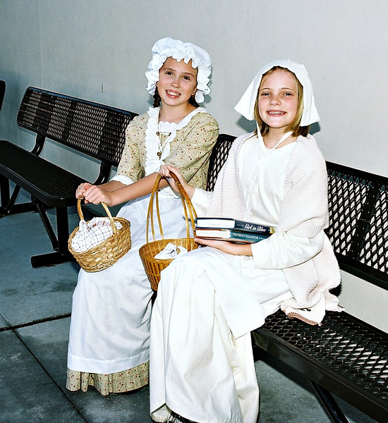 Emily with Amelia, Colonial Day.
