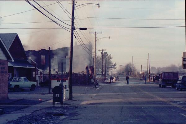 Fredonia Store Burning