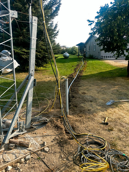 2016-Trenching Coax & Control Cables to the Tower