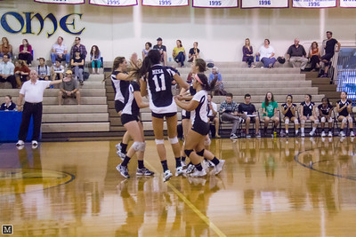 10-04-12 Varsity Volleyball at Calvary