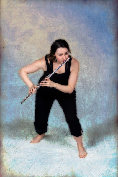 Samantha Donnell with flute