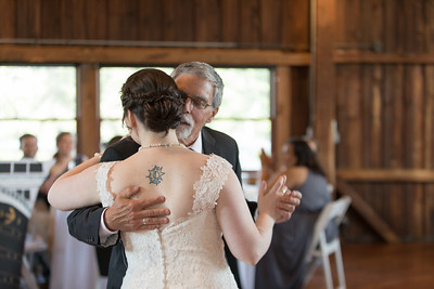 Reception Father Daughter Dance-Dana Ouellette & Matt LaMontagne Wedding-The Red Barn At Hampshire College Amherst, MA- New England Connecticut Wedding Photographer