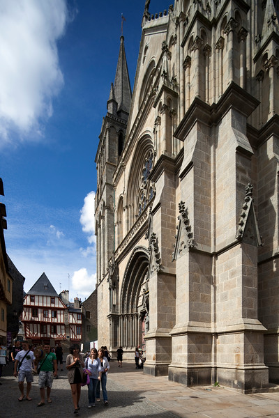 Saint Pierre Cathedral, Vannes, department of Morbihan, region of Brittany, France