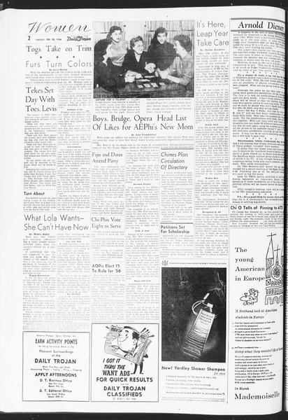 Daily Trojan, Vol. 47, No. 84, February 28, 1956