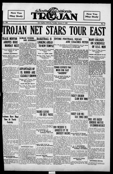 The Southern California Trojan, Vol. 13, No. 37, January 17, 1922