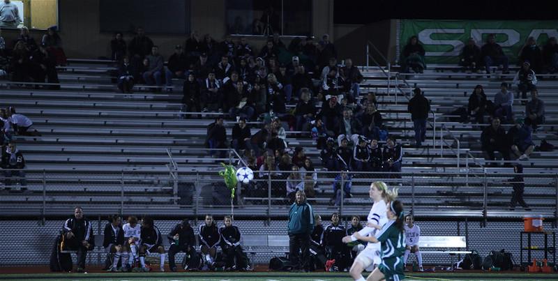 Spartan Fans  Woodinville High Girls Varsity Soccer verse Skyline High October 20, 2011, ©Neir