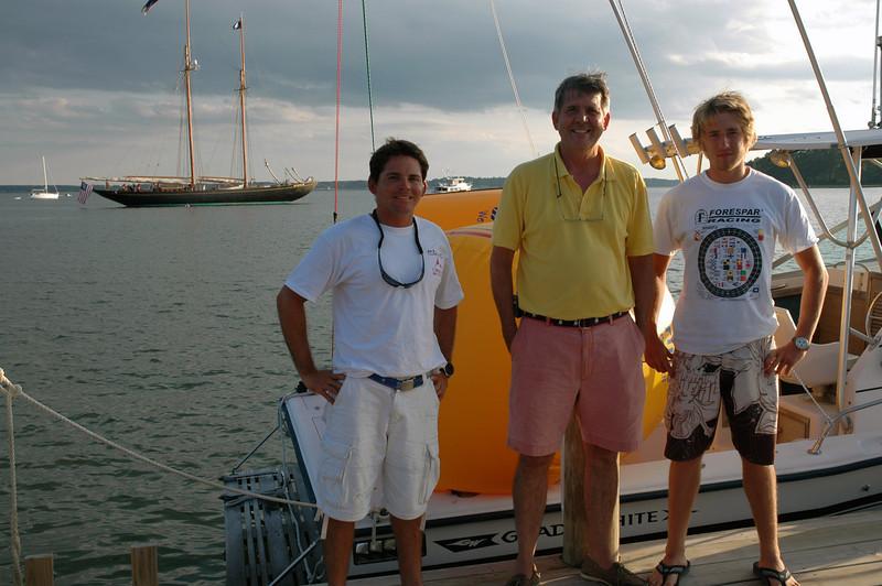 Juan, Noel Clinard with the Schooner Virginia in the background.