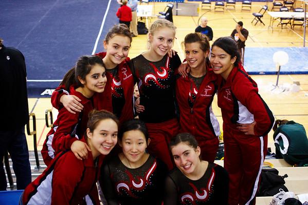 2009.02.10 - Girls' Gymnastics - Niles West @ Sectionals