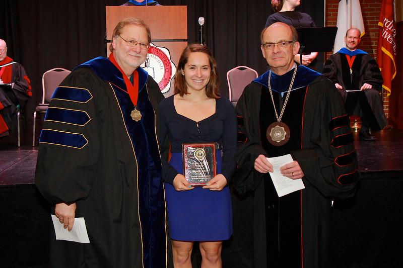 58th Academic Awards Day; April 30, 2013. Global Studies Award