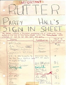 1985 Rutter Costume Party