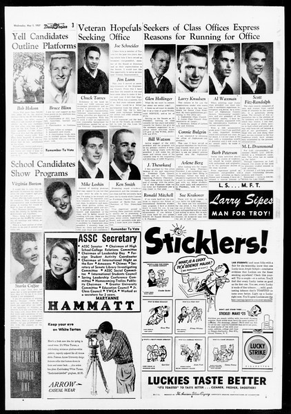 Daily Trojan, Vol. 48, No. 121, May 01, 1957
