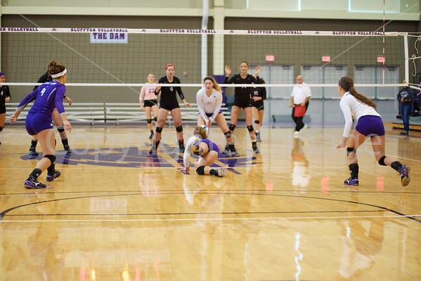 Bluffton Volleyball 100315 Goshen