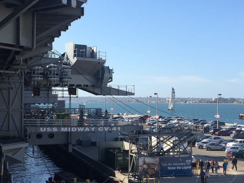 2/5 USS Midway - Stars & Stripes sailing in the distance