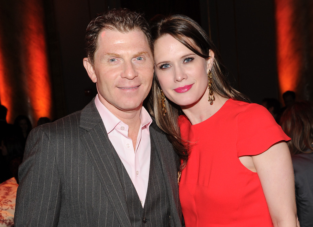 """. Chef Bobby Flay and girlfriend actress Stephanie March attend the HBO \""""Girls\"""" premiere after party at Capitale on Wednesday, Jan. 9, 2013 in New York. (Photo by Evan Agostini/Invision/AP)"""