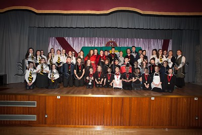 All Four groups who preformed at the One Act Play Festival held in St Mary's High School. R1607011