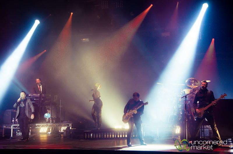Simple Minds on Stage at Edinburgh's Hogmanay