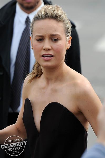 Brie Larson Nearly Pops Out Of Her Designer Maison Martin Margiela Dress!