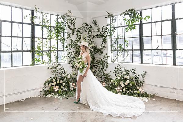 Winter Modern Boho Wedding Inspiration in Studio in Houston Texas