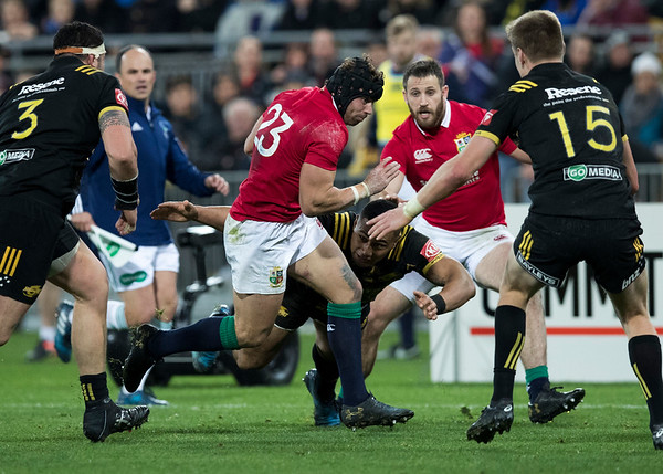 Leigh Halfpenny during game 8 of the British and Irish Lions 2017 Tour of New Zealand,The match between  Hurricanes and British and Irish Lions, Westpac Stadium, Wellington, Tuesday 27th June 2017 (Photo by Kevin Booth Steve Haag Sports)  Images for social media must have consent from Steve Haag
