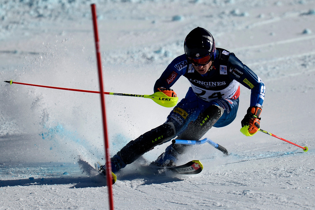 . BEAVER CREEK, CO - FEBRUARY 08: Tim Jitloff of the USA competes during the men\'s alpine combined final. FIS Alpine World Ski Championships 2015 on Sunday, February 8, 2015. (Photo by AAron Ontiveroz/The Denver Post)