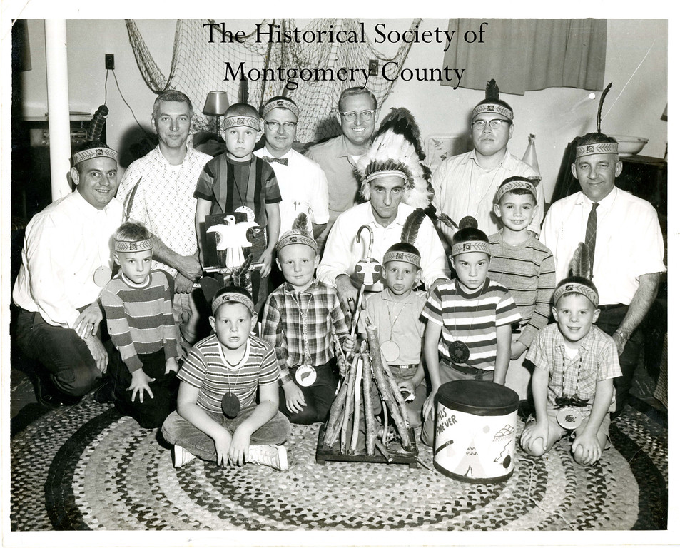 . This photo from the Historical Society of Montgomery County shows the Indian Guides, a father-son group that met at the YMCA in Norristown. The picture is circa 1960.