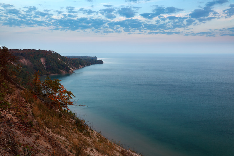 Picture Rocks Shoreline/Au Sable Lighthouse - Log Slide Overlook (Pictured Rocks National Lakeshore)