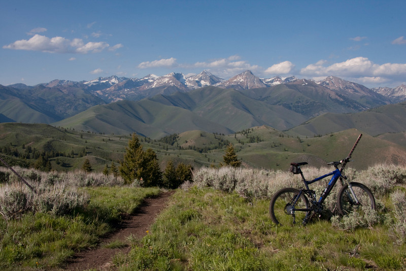The top of Driveway Gulch offers one of the best trail-accessed views of the Pioneer Mounatains anywhere in the valley.