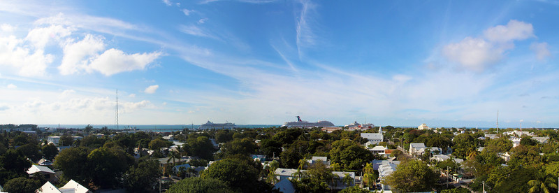 A panorama view of Northwestern Key West seen from the top of the lighthouse