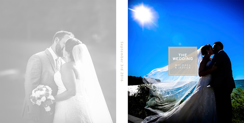 Jessica & Michael 10x10 Flush Mount Wedding Album