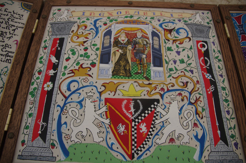 County scroll for Lorelei & Brian Caligraphy - Iain Clerk of the Argent Lion Illumination - Sir Neil Gray Portrait -  Dame Jane Beaumont