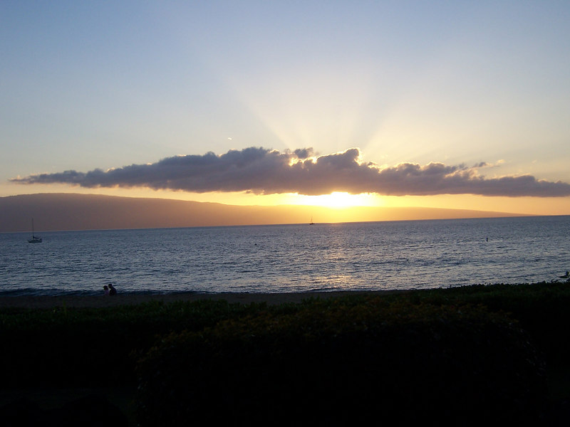 That famous Hawaii sunset.