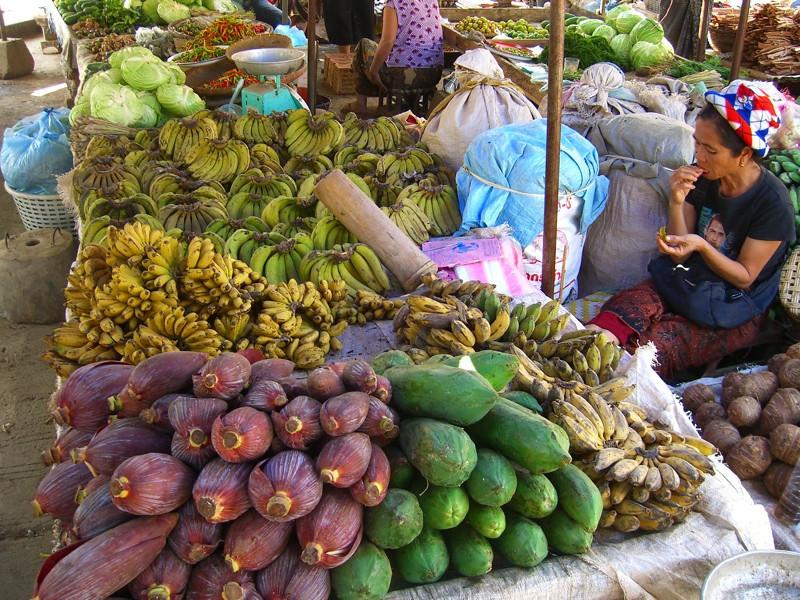 Bananas and Banana Blossoms - Luang Prabang, Laos