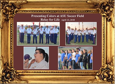 4-13-18 Presenting Colors at ASU for Relay for Life