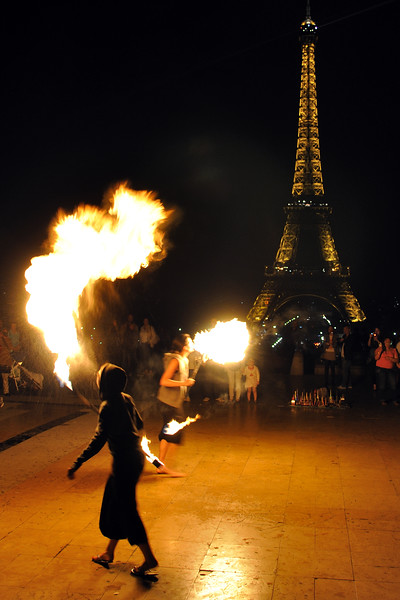 Fire Breathers - Paris, France - April 23, 2011