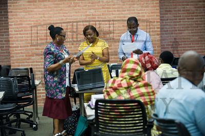 16040 Nigerian educators visiting Wright State 7-17-15