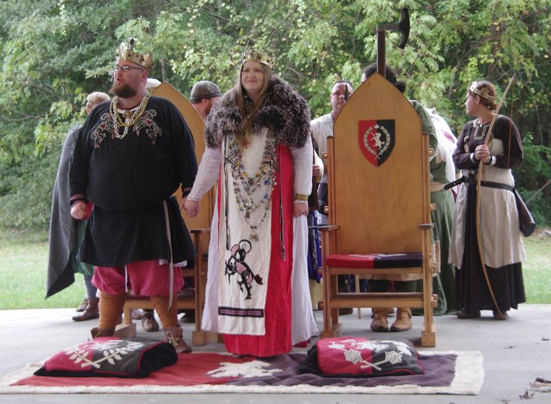 King James & Queen Joan, start of last court.