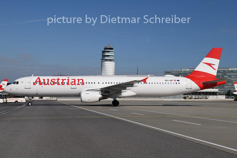 2019-05-07 OE-LBF Airbus A321 Austrian Airlines