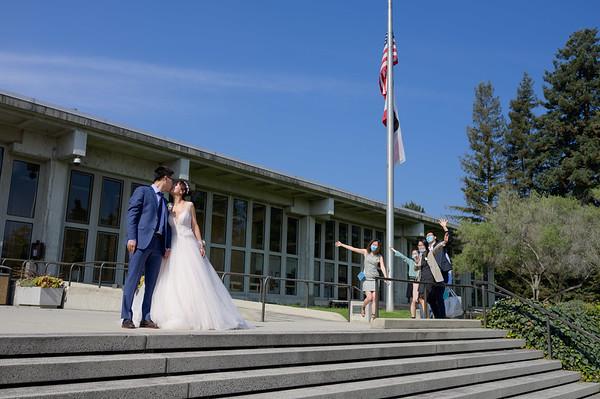 Yupeng and Wendy Elopement @ Santa Cruz Courthouse