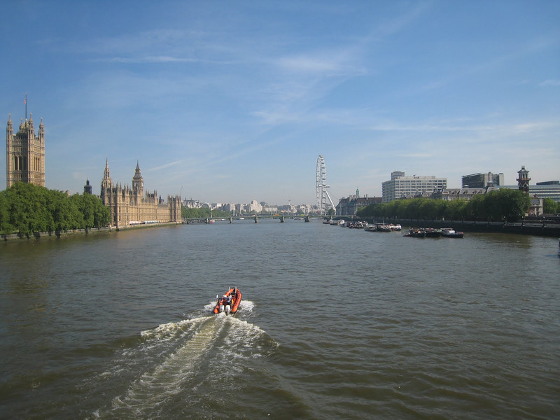 The River Thames - Parliament and the London Eye