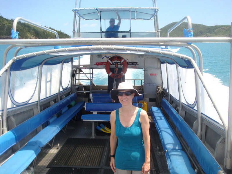 Sadly, after four days the Scamper did indeed return for us, and our return tour of the Whitsundays commenced.